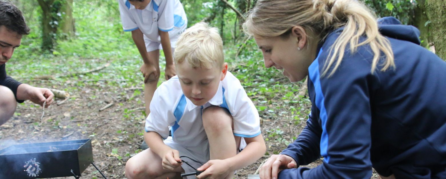 outdoor learning at the beacon school