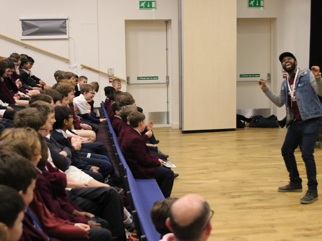 Hip hop poet Karl Nova inspires Beacon boys