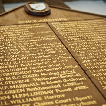School Scholarships plaque